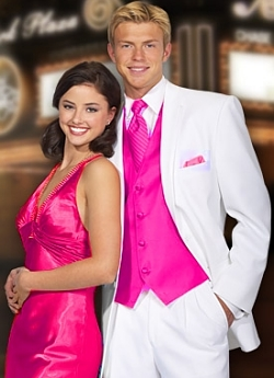 Pink and white prom suits suit la for Wedding dresses lowell ma